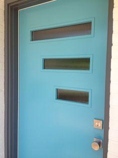 mid century modern door