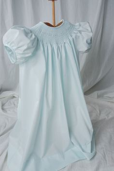 baby blue smocked dress