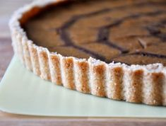 Maple Sugar Shortbread Tart (or Pie) Crust