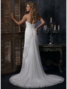 Strapless Simple Chiffon Wedding Dress of 2011 MBD7554