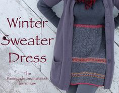Upcycled Winter Sweater Dress | eHow Crafts