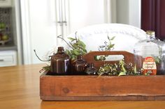 Brown apothecary bottles from #Goodwill. #thrift #decor #home #rustic #interiors #design