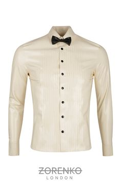 Mens Tuxedo Latex Shirt by ZorenkoLondon