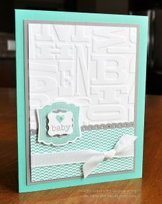 Stampin' Up! Baby Card by Card Creations by Beth