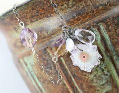 Lavender Ice  Druzy Gemstone Necklace by JewelsByLDesigns on Etsy, $65.00