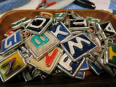 license plate letter charms.
