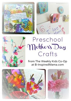 Preschool Mothers Day Crafts from The Weekly Kids Co-Op at B-InspiredMama.com