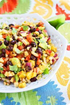 avocado, corn, and mango salad