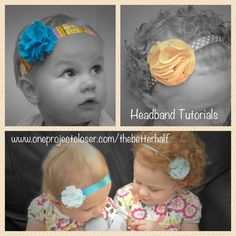 Make 4 different types of headbands! So cute and easy. Detailed tutorials with lots of pix! #sewing #DIY #craft #the better half