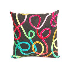 Squiggles Pillow 18x18 Fiesta, $19, now featured on Fab.