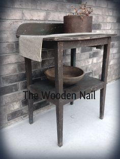 New  for 2013 Washstand Pattern - www.woodennail.com prim decor, patterns, washstand, prim build, primit decor, prim pattern, diy primit, primit gather