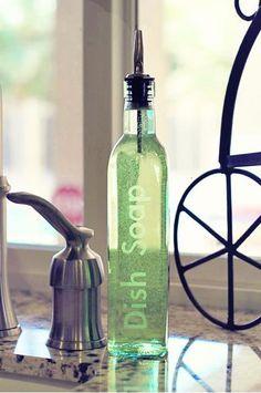"""etched"" lettering on glass bottles..."