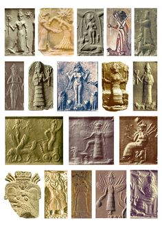 18 Seals of the Goddess Inanna the Sumerian goddess of love, fertility, and warfare, and goddess of the E-Anna temple at the city of Uruk, her main centre.