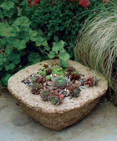 DIY Planter, looks like stone but lighter