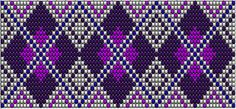 Wicked Artsy: Bead loom patterns: Purple diamonds and green squares