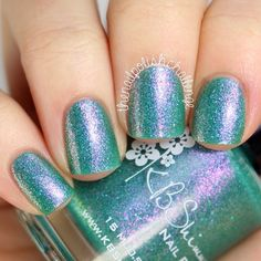 Instagram photo by @thenailpolishchallenge || KB Shimmer - Teal Another Tail