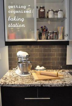 Getting Organized -Baking Station