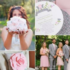 pretty pink and gray spring wedding #wedding #spring #pink #gray #springwedding #pinkandgraywedding