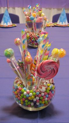 candyland birthday party, candy centerpieces, candi centerpiec, birthday parties, theme parties, centerpieces for party, birthday party candyland, candyland party centerpieces, candy decorations