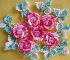 crochet flowers. supper amazing! @Af's 22/1/13