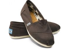Chocolate Canvas Classic Toms