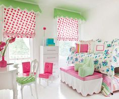 Start with a white base and add pops of color to show your little girl's personality. More kid's bedroom ideas for girls: http://www.bhg.com/rooms/kids-rooms/girls/girls-bedroom-ideas/?socsrc=bhgpin071013pinkgreen=4