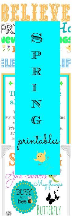 Three FREE Spring-Easter printables - #easter #spring