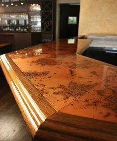 copper bar top