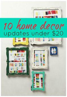 10 Home Decor Updates Under $20 - Tipsaholic.com #decor #home #design #budget