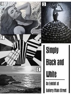 The simple elegance of black and white art as seen at the Gallery Main Street in Tyler, Texas.