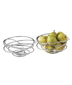 LOOP-DE-LOOP BOWL | Made from Single Piece of Chrome Wire, Fruits Loops Bowls, Sculptural Looping Decorative Bowls, Modern, sophisticated, Elegant, Orbit Bowl, Home Decor, Home Accent | UncommonGoods