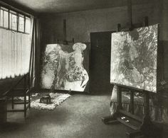 Gustav Klimt's studio...if i could only be there when he was painting...