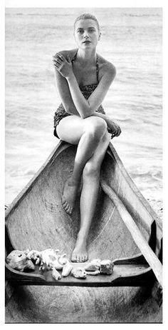 grace kelly in canoe
