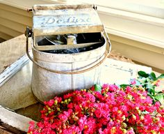 Vintage Mop Bucket Water Feature - Chaotically Creative