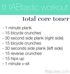 Fit Fabstastic workout |