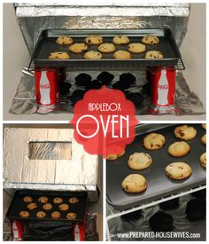 Have an oven even in an emergency! All you need is a box and foil. For more instructions on how to make one visit: www.PREPARED-HOUSEWIVES.com - #EmergencyPreparedness #AlternativeCooking #EmergencyCooking #AppleboxOven
