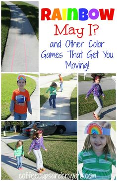 Rainbow Outdoor Games for Preschool!