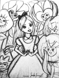 Trippy Alice In Wonderland Drawings Images amp Pictures Becuo