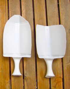 Pequena pala de jardin reciclando botella de plastico con asa 2