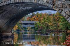 Henniker covered bridge No. 63 in New Hampshire
