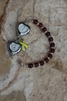 Deployment Watch - Custom Made. $40.00, via Etsy. (I want this one with blue beads when Jon deploys)