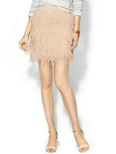 Press Sabine Chiffon Feather Skirt | Piperlime