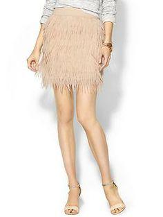 Press Sabine Chiffon Feather Skirt   Piperlime