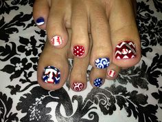 Texas Rangers Nail art