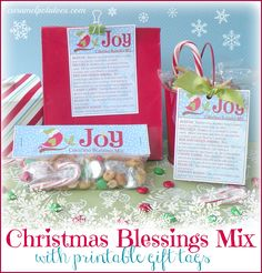 Gift for work friends - Christmas Blessings Mix with Printable Tags