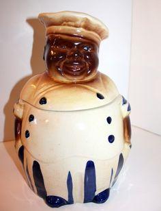 Vintage National Silver 1940's Black Americana Chef Cookie Jar | eBay
