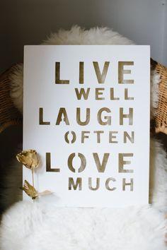 { live, laugh, love }