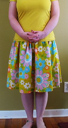 vintage sheet skirt.