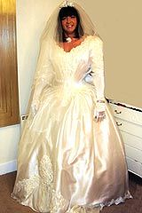 Crossdressing wedding dress