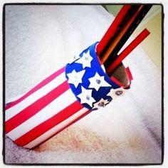 Patriotic Pen Holder – Presidents Day Craft from Memetales